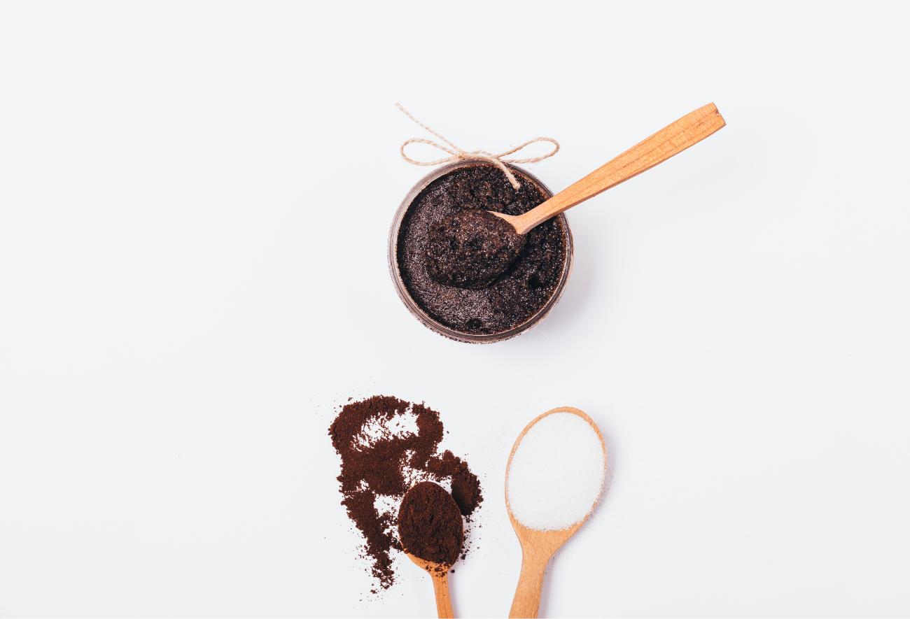 Coffee Grounds made into a DIY Body Scrub