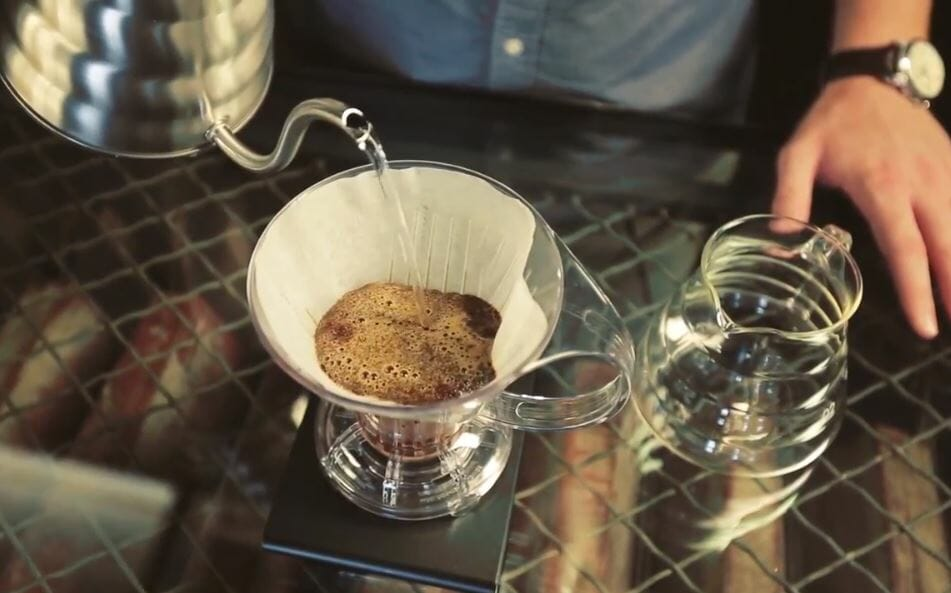 pour over coffee brewing