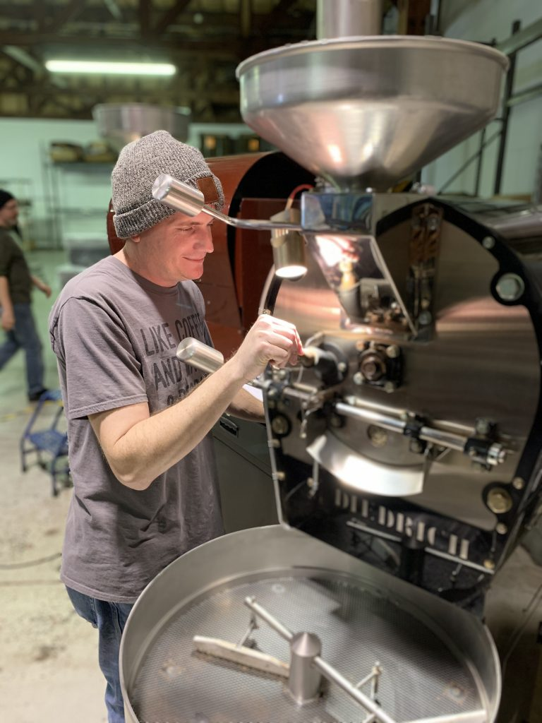 Making specialty coffee with PT's coffee roasting